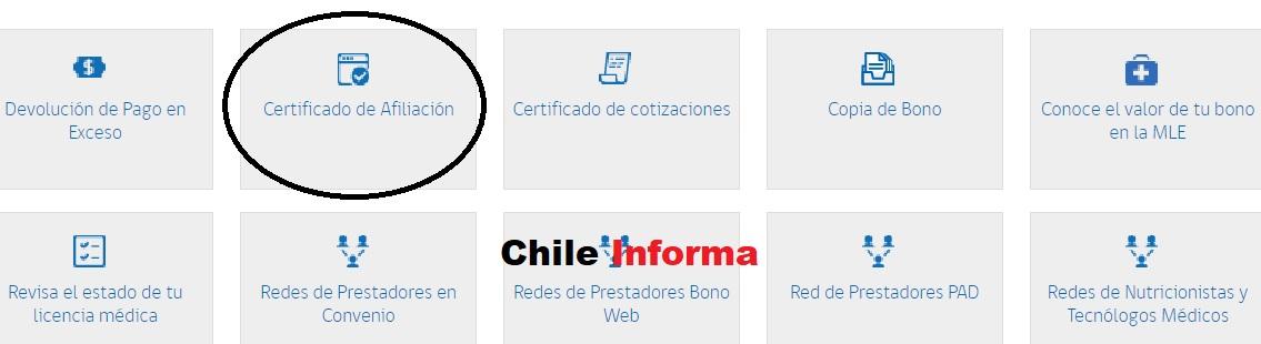Certificado de afiliación