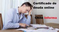 Certificado de deuda online