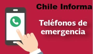 Teléfonos de emergencia en Chile