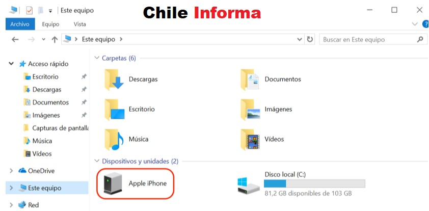 fotos de iphone a pc