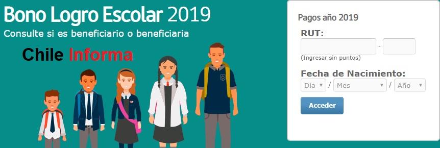 Bonos para escolares 2019