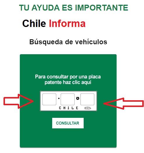 Anotar patente de un auto en carabineros de chile