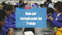 bono por formalización de trabajo Chile