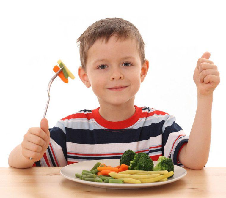 niño sano al dia
