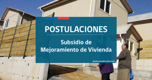 postularse para subsidio de mejoramiento de vivienda