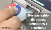 Revisar saldo de los bonos, pensiones y beneficios