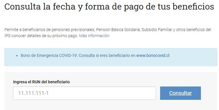 Consultar fecha de pago del bono covid