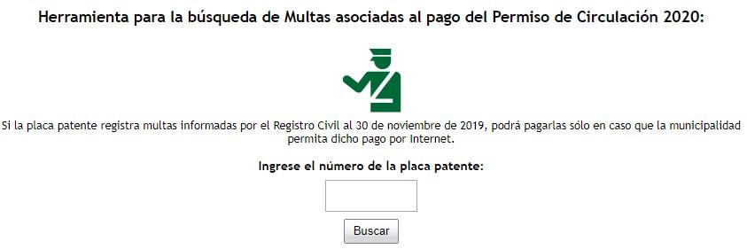 multas asociadas al permiso de circulación