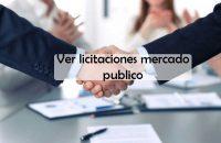 ver licitaciones mercado publico